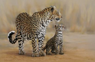 Leopard_mother_and_cub